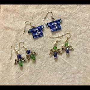 Seattle Seahawks earring set